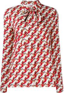 P.A.R.O.S.H. Blusa Com Estampa Geométrica - Vermelho