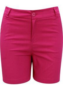 Shorts Pau A Pique De Sarja Liso Pink