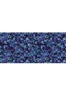 Tapete Transfer Geomã©Trico- Azul Claro & Azul Escurotapetes Junior