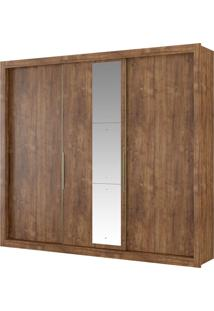 Roupeiro Astor 3 Portas De Correr Native C/ Espelho Móveis Carraro