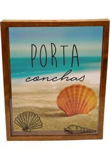 Quadro Decorativo Marrom Tabaco Porta Conchas Prolab Gift