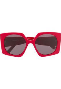 Courrèges Eyewear Óculos De Sol Quadrado - Vermelho