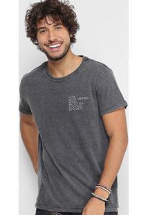 Camiseta Foxton Estonada Masculina - Masculino-Preto