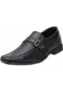 Sapato Topflex Couro Social - Masculino-Preto