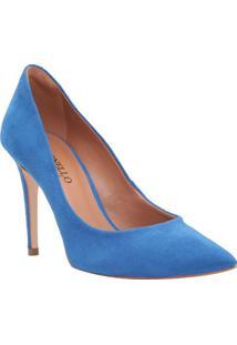 Scarpin Aveludado - Azul - Salto: 9,5Cmcecconello