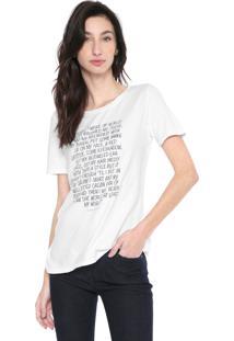 Blusa Calvin Klein Jeans Text Branca