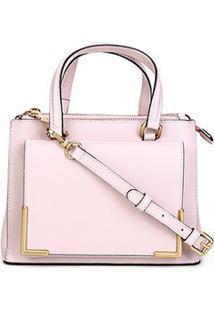 Bolsa Couro Luz Da Lua Mini Bag New Ridge Feminina - Feminino-Rosa