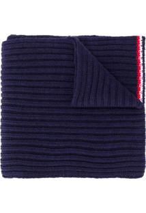 Rossignol Cachecol De Tricô Com Patch De Logo - Azul
