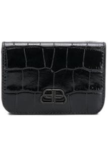 Balenciaga Carteira Bb Mini - Preto