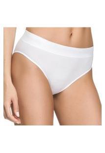 Kit 3 Calcinhas Zee Rucci Comfort Básica Sem Costura Branco