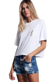 Camiseta John John Success Malha Off White Feminina (Off White, P)
