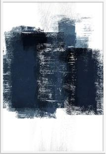 Quadro 90X60Cm Abstrato Textura Artea Moldura Branca Sem Vidro Oppen House