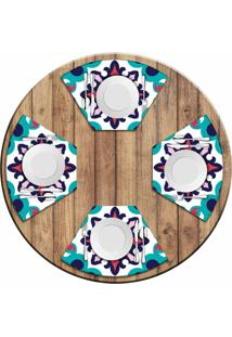 Jogo Americano Love Decor Para Mesa Redonda Wevans Mandala Color Kit Com 4 Pçs
