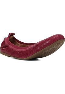 Sapatilha Couro Shoestock Elástico Cobra Feminina - Feminino-Rosa