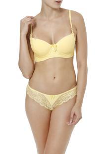 Conjunto De Lingerie Thays E Thamires Amarelo
