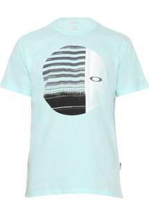 Camiseta Oakley Disrupted Ellipse Tee Masculina - Masculino-Azul