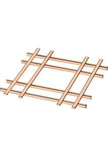 Descanso Para Panelas- Bronze- 1,5X19X19Cm- Futufuture