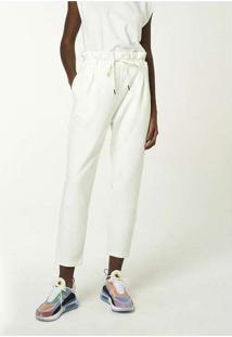Calça Feminina Cintura Alta Com Cordão Para Amarra