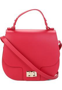 Bolsa Petite Jolie Flap Saddle Bag Feminina - Feminino-Vermelho