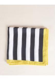 Lenço Barrado Colorido - Amarelo U