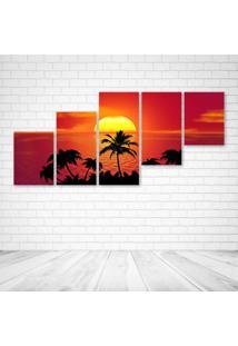 Quadro Decorativo - Tropical - Composto De 5 Quadros - Multicolorido - Dafiti
