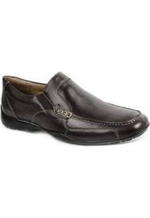 Sapato Casual Couro Sandro & Co. Masculino - Masculino-Café