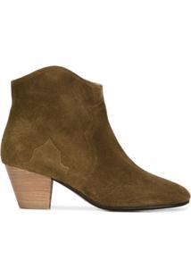 Isabel Marant Ankle Boot 'Dicker' De Camurça - Marrom
