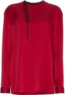 Haider Ackermann Blusa Com Recorte Vazado - Vermelho