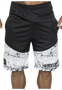 Bermuda Hardcore Line Dry Fit Branca E Preta