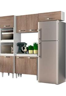 Cozinha Modulada 4 Módulos Composição 4 Branco/Castanho - Lumil Móveis