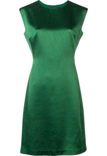 Theory Fitted Midi Dress - Verde