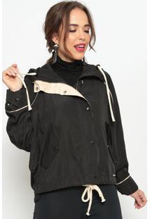 Jaqueta Com Bolsos- Preta- Lebã´Hlebã´H