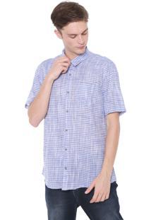 Camisa Calvin Klein Jeans Slim Listrada Azul