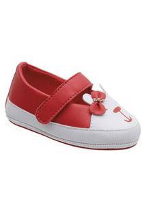 Sapatilha Boneca Little Cute Ursinho Vermelho