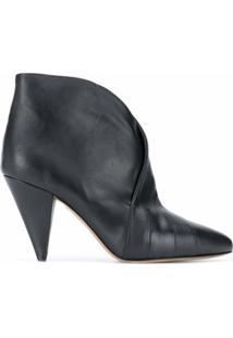 Isabel Marant Ankle Boot Alba Com Salto 90Mm - Preto