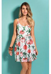 09bf9d06a ... Vestido Floral Quintess Com Decote V Nas Costas