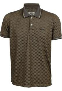 Camisa Polo Aes 1975 Masculina - Masculino-Marrom