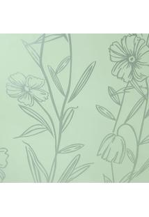 Kit 2 Rolos De Papel De Parede Fwb Lavável Floral Prateado Perolado - Tricae