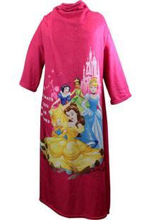 Cobertor Com Mangas Princesas® - Pink & Amarelo - 16Zona Criativa