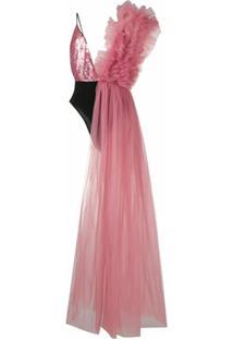 Alchemy Vestido Assimétrico - Rosa