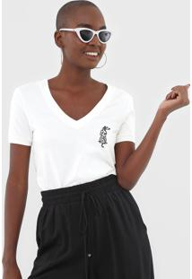 Camiseta Dzarm Bordada Off-White