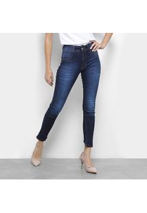 10f441e39b R$ 71,99. Zattini Calça Jeans Skinny Biotipo Estonada Barra Desfiada  Cintura Média Feminina - Feminino-Azul Escuro