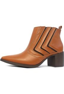 Bota Cano Curto Damannu Shoes Jennifer Napa Marrom