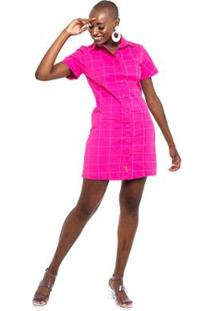 Vestido Equivoco Lily Feminino - Feminino-Pink