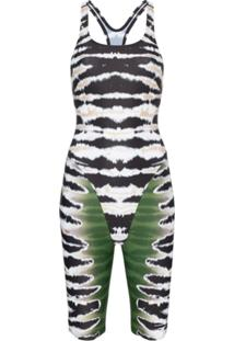 House Of Holland Traje De Banho Com Estampa Tie Dye - Black And Green Multi