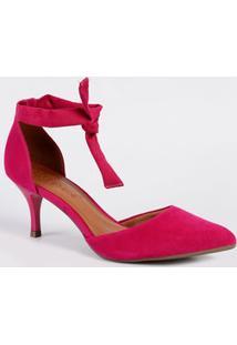 0db5345213 Marisa. Scarpin Bebecê Com Salto Pink Bico Fino Feminino 6816363