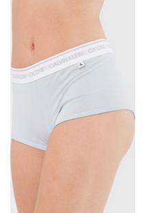 Calcinha Calvin Klein Underwear Boyshort Barcode Azul