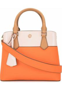 Tory Burch Two Tone Cross Body Bag - Laranja