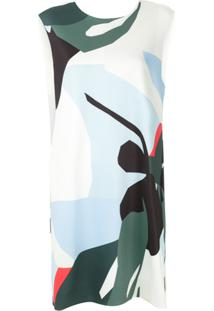 Osklen Vestido Curto Estampado - Branco