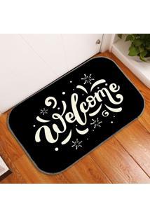 Tapete Decorativo Welcome Em Branco Único